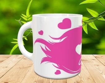 Love is in the Hair 11 oz mug