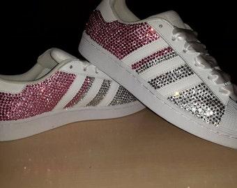 Crystal Adidas Superstar Trainers