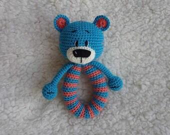 Crochet bear rattle