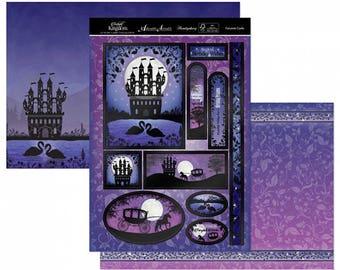 Fairytale Castle Topper Set - Greeting Card Topper - Foiled Fairytale Card - Twilight Kingdom Card Kit - Foil Twilight Kingdom Kit - 10-023