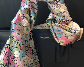 Limited Edition! Liberty of London Silk Flower Twilly- XS-XL Bag Purse Handle Wrap!