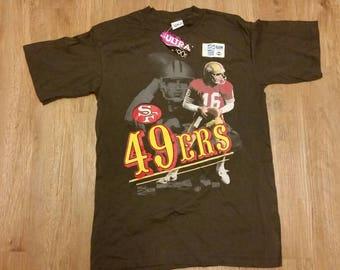 Medium Salem sportswear shirt, vinatge salem sportswear, Joe montana, San Francisco 49ers, MEDIUM