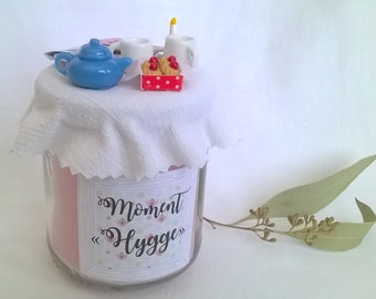 """Candle rose gift, """"Time Hygge"""""""