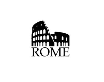 Rome Vinyl Decal, Italy Decal, Rome Print, Rome Art, Italy Wall Art, Italy Print