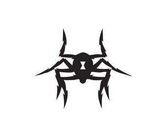 Black Widow Decal - Captain America, vinyl decal, Marvel Comics, laptop decal, laptop sticker, vinyl sticker, Black Widow, wall sticker