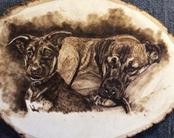 Custom Wood Burnings of Pets for Examples of Requests