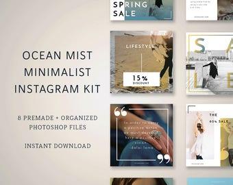 marketing kit, Instagram images, instagram pack, instagram templates, sale marketing, minimalist branding, instagram designs