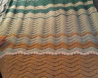 Sea Turtle Crochet Blanket *Blanket Pattern Only*