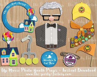 Up Movie Photo Booth Props, instant Download, Digital File, Pixar Movies