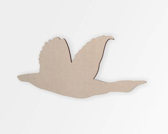 Wooden Goose- Goose Cut Out, Wall Art, Home Decor, Wall Hanging, Unfinished and Available from 2 to 42 Inches