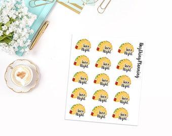 Taco Night | Erin Condren Vertical Life Planner Stickers