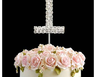 Rhinestone Crystal Birthday Anniversary Cake Topper Number Pick L1 topperDiamante Gems Decoration - L1topper