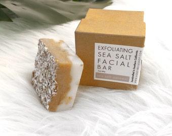 Sea Salt Oatmeal Facial Bar   Oatmeal Bar   Sea Salt Bar   Exfoliating Facial Bar   Facial Soap   Acne Soap   Exfoliating Soap Bar