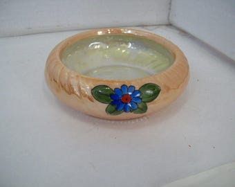 Unique Vintage Hand Painted in Japan Lusterware Bowl FREE SHIPPING