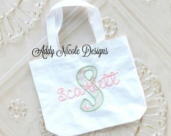 Girls Personalized Tote Bag, Toddler Gift Bag, Personalized Gift Bag, Tote Bag
