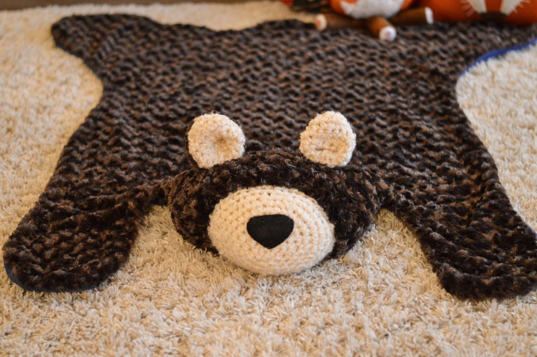 Bear Rug Siwrl Fur Faux Bear Rug Plush Bear Rug Woodland