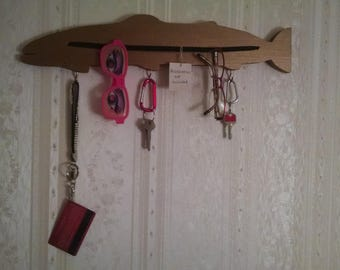 Wooden Fish Eyeglass/Key holder