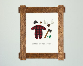 Little Lumberjack Nursery Art Print | Nursery Art | Nursery Decor