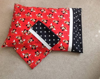 Set of Two Mickey Mouse Pillow Cases- Standard Pillow