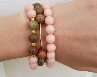 Handmade Beaded Bracelet Stack