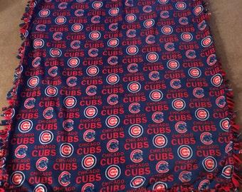 Handmade Chicago Cubs Tie Blanket
