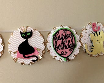 Happy Birthday Cat Kitty Banner ~ for the cat lover