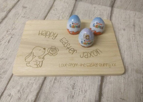 Easter bunny egg board - perfect for little chocolate eggs or egg & soldiers - personalised and bespoke - 2 sizes