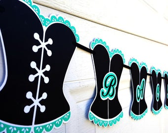 Bachelorette Party Banner, SKU# BNWD0152, Bridal Shower Banner, Naughty Party Banner