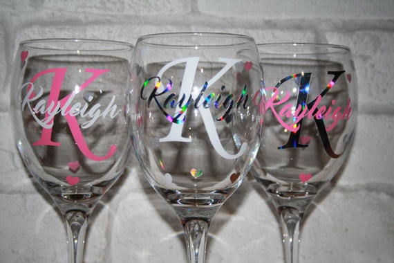 Wine glass decal wine glass vinyl diy vinyl diy for Do it yourself wine glasses