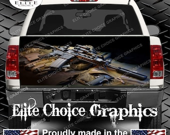Gun Truck Tailgate Wrap Vinyl Graphic Decal Sticker Wrap