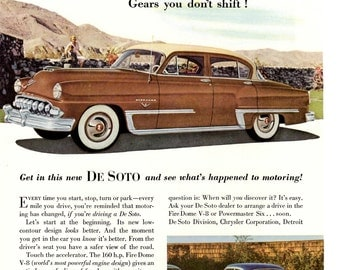 1953 DeSoto vintage magazine ad very Distinguished wall decor man cave  1701