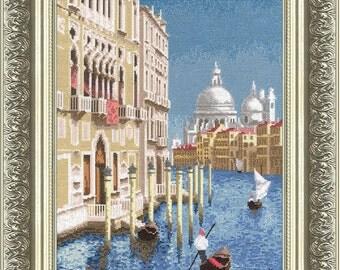 "Counted Cross Stitch Kit GOLDEN FLEECE - ""Beautiful Venice"""