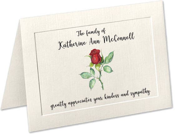 funeral acknowledgement cards