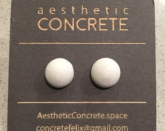 Minimalist Concrete Jewelry / Concrete Earring / Modern concrete jewelry earring / half dome concrete earrings / Earrings