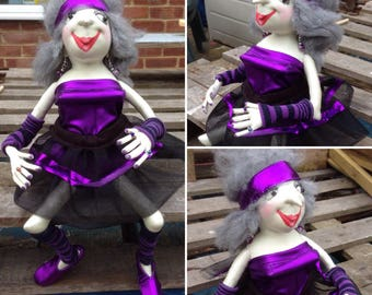 Growing Old Disgracefully Doll OOAK Art Doll