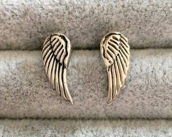 Silver Wing Stud Earrings, Silver Wing Studs, Sterling Silver Studs, Wing Studs, Wing Earrings, Small Silver Studs, Bohemian Jewelry