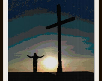 Cross Pattern - Cross Stitch Pattern - Religious - PDF Download