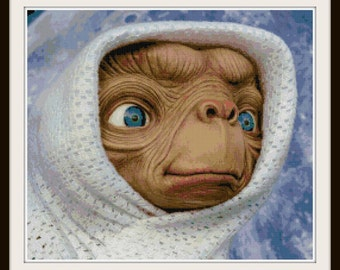 ET Cross Stitch Pattern - ET Phone Home - Alien