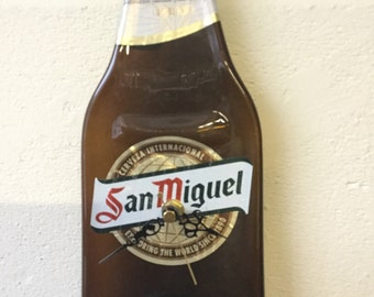 Large San Miguel beer bottle clock
