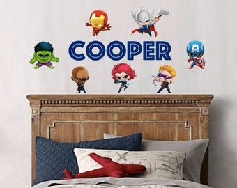 Superhero Wall Decal - Avengers (7 to choose from)