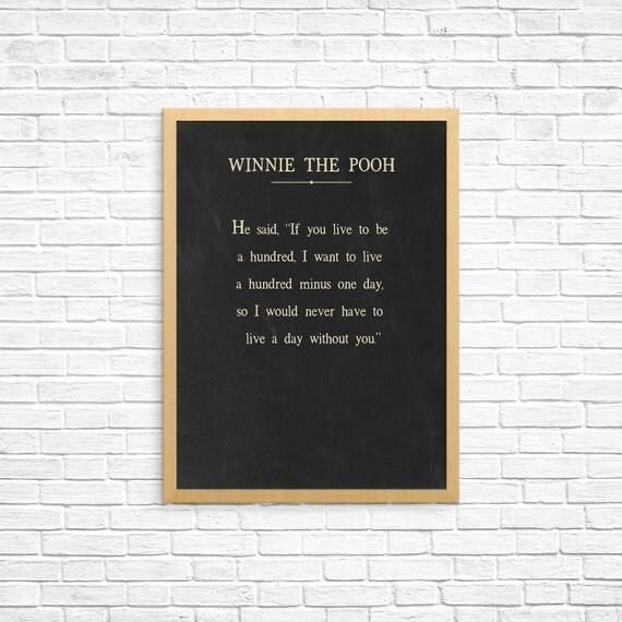 Winnie The Pooh Quote Winnie The Pooh Art Print Nursery
