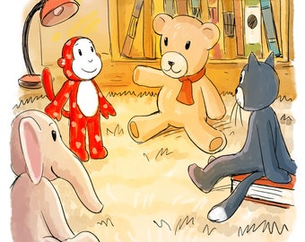 Custom Book Illustration, Custom Picture Book Illustration, Children's Book Illustrator, Custom drawing, Printable illustration