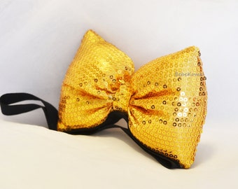 sequin bow, sequin headband, sequinned bow, gold sequin bow, silver sequin bow, big sequin bow, sequin bow headband, sparkly bow headband