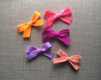 Neon and pastel felt bows