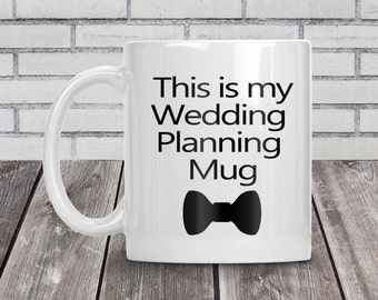 Goom mug, Wedding planning mug, Groom coffee mug, Groom to be, Engagement gift, Groom mug, Pre wedding gift, Wedding planning, Bow tie mug