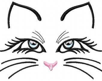AC 007 Cat -  Machine Embroidery Design