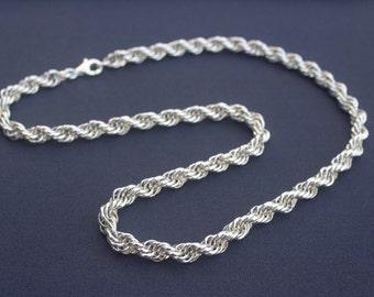 Sterling Silver Spiral 'Rope' Chainmaille Necklace