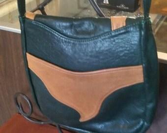 Hand crafted Ken Dumdie leather shoulder strap purse