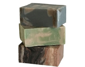 Men's Travel Soap Trio : Gift for Him