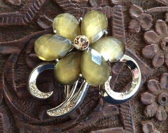 Vintage Liz Claiborne Flower Brooch Pin